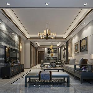 宝生Midtown164平米新中式风格室内设计