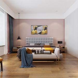 四居室-现代简约-主卧-效果图