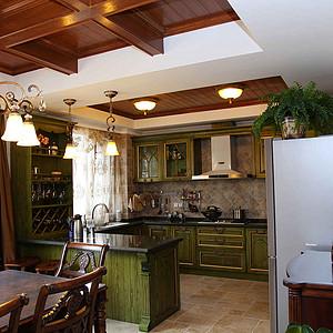 麓山公馆320平米新古典风格厨房全貌