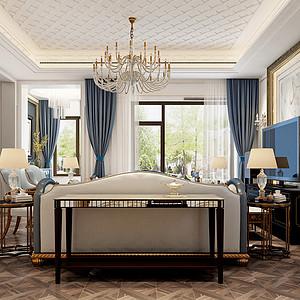 大连新古典装修-客厅