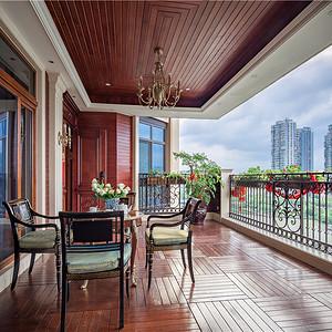 中瑞星河湾330平美式乡村设计装修效果图-阳台