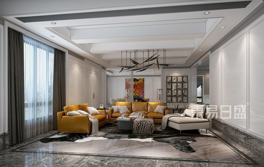 仁和自建房现代简约风格客厅效果图