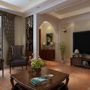 仕林苑简约欧式风格客厅装修效果图