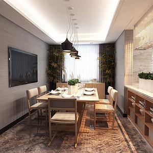 保利香颂湖现代简约风格餐厅装修效果图