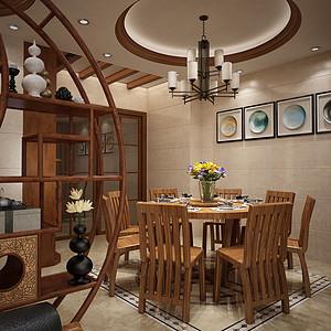 四房二厅新中式餐厅装修效果图