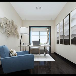 书房装修效果图-银湖蓝山装修设计方案