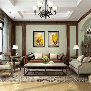 明珠城里昂苑 美式风格 360平别墅装修