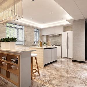 保利香颂湖现代简约风格厨房装修效果图