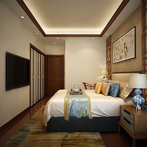 四房二厅新中式卧室装修效果图