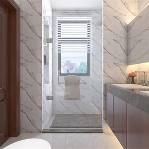 普通住宅-新中式-卫生间-效果图