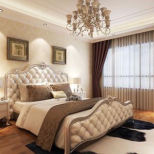 仕林苑简约欧式风格卧室装修效果图