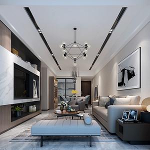 客厅装修效果图 现代简约风格装饰
