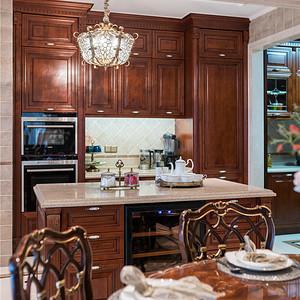中瑞星河湾330平美式乡村设计装修效果图-厨房