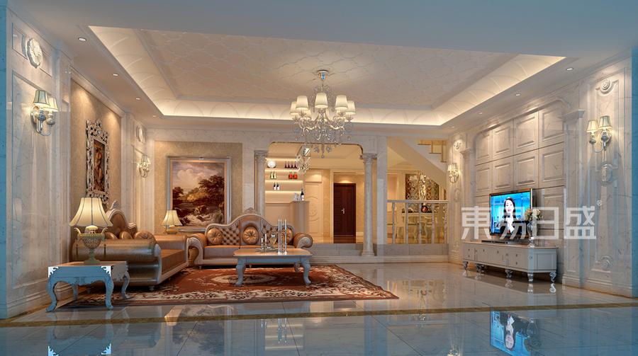 客厅装修效果图 欧式古典 别墅装饰