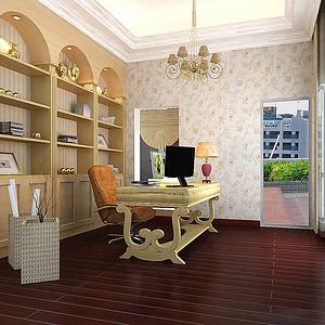 书房欧式古典装修效果图