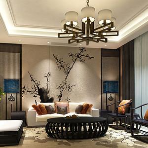 九台别墅新中式风格装修效果图
