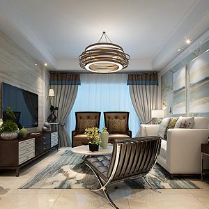 保利梧桐雨-130m²-现代风格