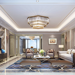 御湖峰300平米港式现代室内设计