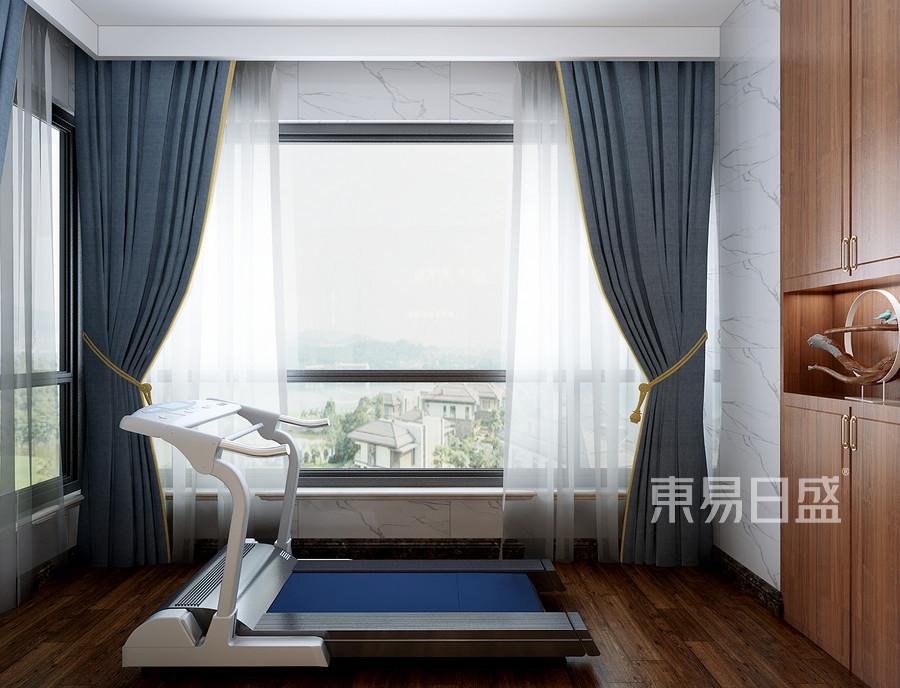 三居室-混搭风格-阳台-效果图