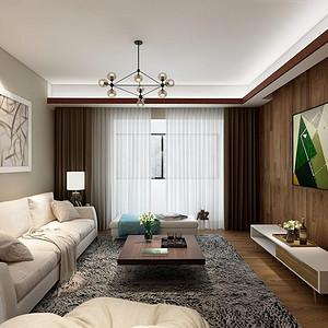 绿地城现代风格178平米装修效果图