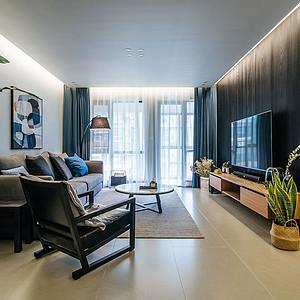 华润凤凰城133㎡三居室现代简约风格实景图