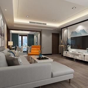 香榭东沙151平米新中式风格装修效果图