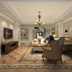 别墅雅致风格客厅装修效果图