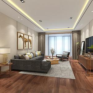 紫禁壹号院 现代简约 客厅装饰