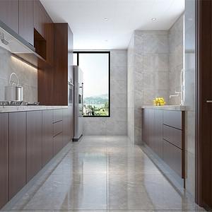 普通住宅-新中式-厨房-效果图