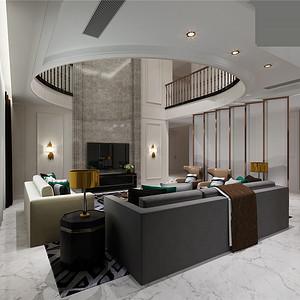 新古典风格客厅挑空视觉上更加宽阔