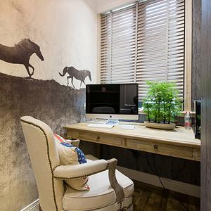 绿城海棠湾145平美式乡村设计装修效果图  (以梦为马)