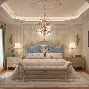时代庄园 法式风格 卧室装饰图
