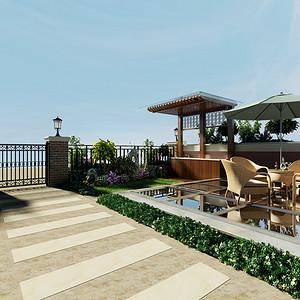 美式简约风格庭院装修设计