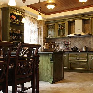 麓山公馆320平米新古典风厨房及吧台