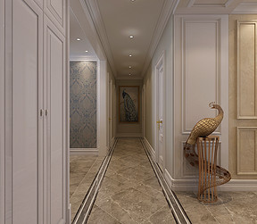 三居室-美式-效果图