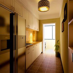 新园里简约美式风格厨房装修效果图