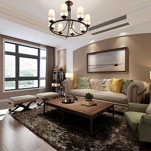 美式简约风格客厅装修设计