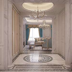 时代庄园 法式风格 门厅装饰图