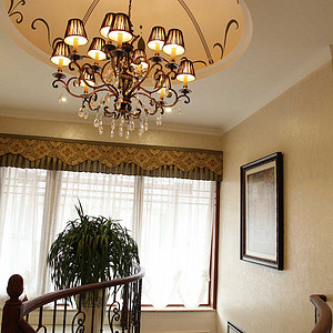 麓山公馆320平米新古典风格楼梯间