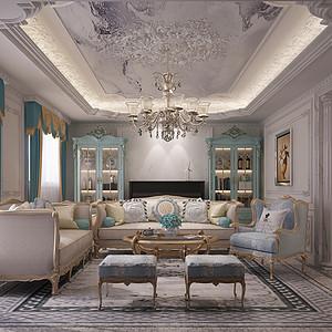 时代庄园 法式风格 客厅装饰图