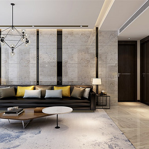 现代轻奢-客厅沙发背景墙