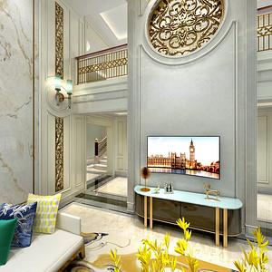 现代美式客厅