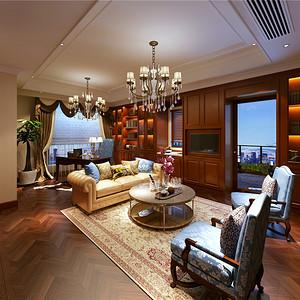外滩印象720平别墅简欧风格设计装修效果图