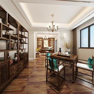 水木清华现代轻奢书房装修效果图