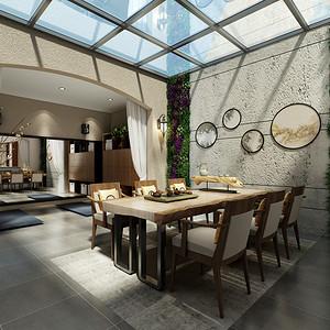 美式简约风格餐厅装修设计