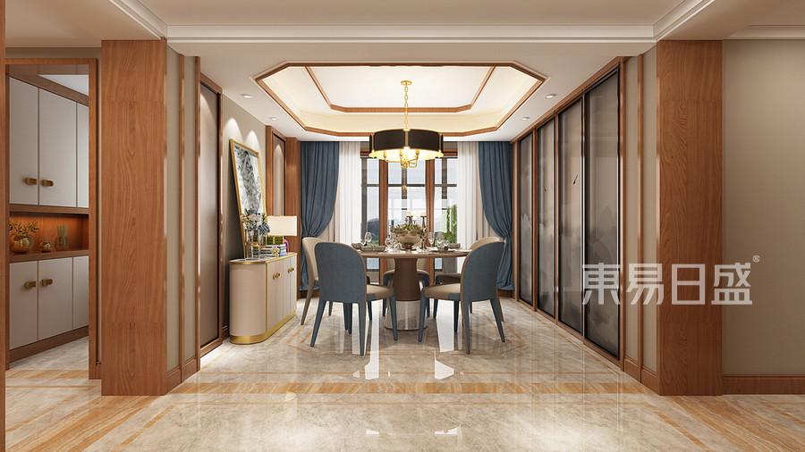 普通住宅-新中式-效果圖-餐廳