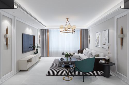 朝阳首府140平四室两厅简欧风格装修案例