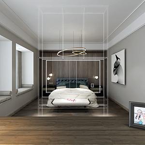 鼎峰源著四房二厅现代简约主卧室效果图