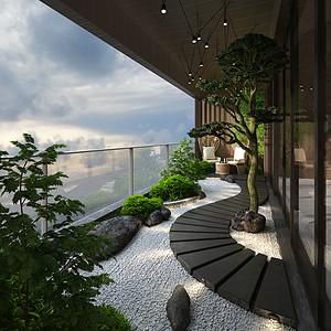 鼎峰源著四房二厅现代简约阳台效果图