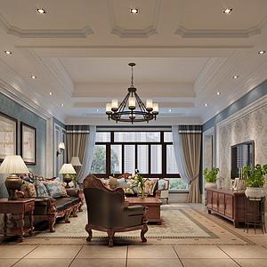 碧桂园美式风格400平米完美空间布局